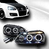 8000K HID XENON BLK LED HALO PROJECTOR HEAD LIGHTS 2006-2009 VW GOLF RABBIT MK5