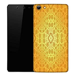 Snoogg Abstract Yellow Pattern Designer Protective Phone Back Case Cover For Micromax Canvas Selfie Q348