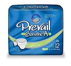 Prevail Disposable Adult Diapers - XX Large (Bariatric Size) (Fits waist size 62