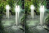4er Set Solarlampe LED Solarleuchte Wegeleuchte XXL 56cm Edelstahl mit