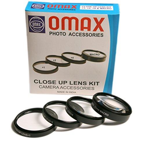 Omax 58mm Closeup Lens Kit for Canon EF-S 18-55mm, 55-250mm EOS 1200D 700D 600D 550D 500D 450D 400D 350D 300D 1100D