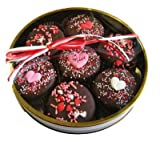 Dark Chocolate Dipped Oreo Cookies Be Mine Design for Valentine's Day Gift - 7 Oreos