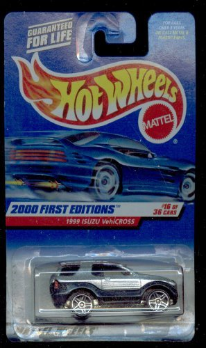 Mattel Hot Wheels 2000 First Edition : 1999 ISUZU VehiCROSS: Blk./Silver 1:64 Scale Die Cast Car #16 OF 36-#076 - 1