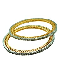 Sheetal Jewellery Silver & Golden Brass & Alloy Bangle Set For Women - B00TIH3EWM