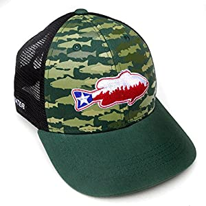 Rep Your Water Hat Texas Bass - Camo/Black