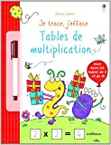 Je trace, j'efface - Tables de multiplication
