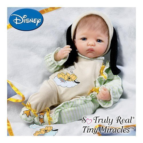 One Tired Pup Baby Pluto Doll: So Truly Real Lifelike Baby Doll With Disney Baby Pluto Sleeper By Ashton Drake