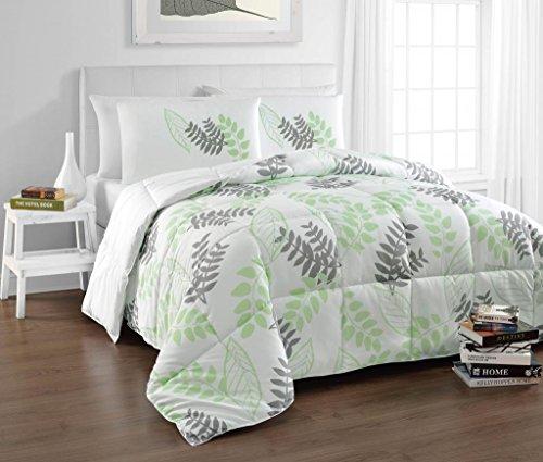 Sale Cozy Beddings Tropical Reversible Down Alternative Charcoal