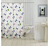 Ocean Dew Butterfly Shower Curtain - @home By Nilkamal, Blue