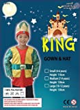 King Green & Gold : Wise Man Nativity Kids Costume age 10-12yrs