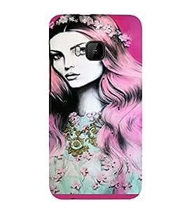 PrintVisa Beautiful Fantasy Girl Art 3D Hard Polycarbonate Designer Back Case Cover for HTC One M9