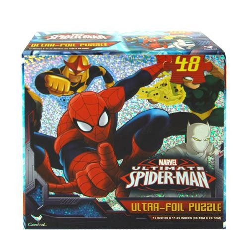 Spiderman 48 Piece Ultra Foil Puzzle - 1