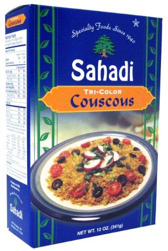 Sahadi Tricolor Couscous, 12-Ounce Boxes (Pack of 6)