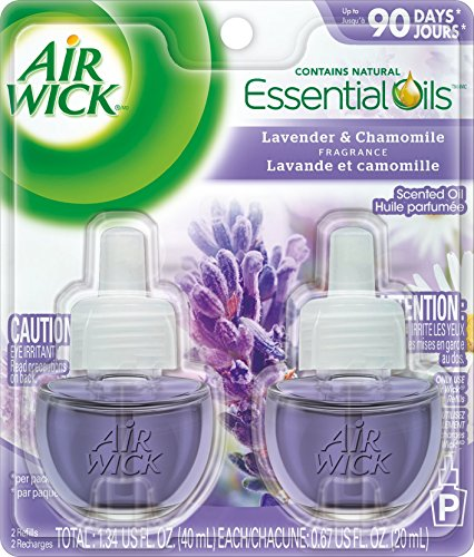Air Wick Scented Oil Refill Plug in Air Freshener Essential Oils, Lavender & Chamomile, 2ct, 1.34oz (Eagle Air Purifier compare prices)