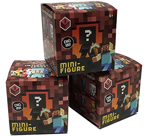 Toy Mystery Box : Minecraft mystery mini series netherrack box