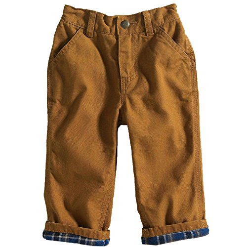 Carhartt Baby-Boys Washed Canvas Dunagree, Carhartt Brown, 18 Months front-1017007