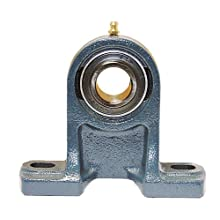 "FYH UCPH205-16 Pillow Block Mounted Bearing, 2 Bolt, 1"" Inside Diameter, Set screw Lock, Cast Iron, Inch"