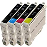 1 Full Set Compatible Epson T0445 Black / Cyan / Magenta / Yellow Printer Ink Cartridges for Epson Stylus C64, C64 Photo Edition, C66, C66 Photo Edition, C84, C84N, C84WN, C86, C86N, C84 Photo Edition, CX3500, CX3600, CX3650, CX3650 Wifi, CX4600, CX5100,