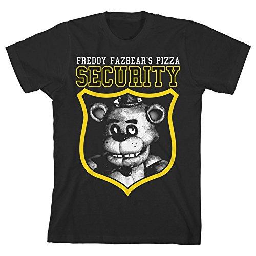 Cinque notti Freddy sicurezza del bambino Youth Maglietta ufficiale Black XL