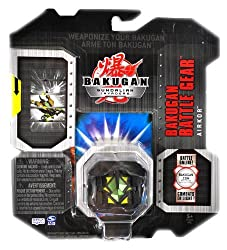 Spin Master Year 2009 Bakugan Gundalian Invaders Series Battle Gear Set 20028609 - Silver AIKOR wit