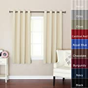Best Home Fashion Beige Grommet Top Thermal Insulated Blackout Curtain 52