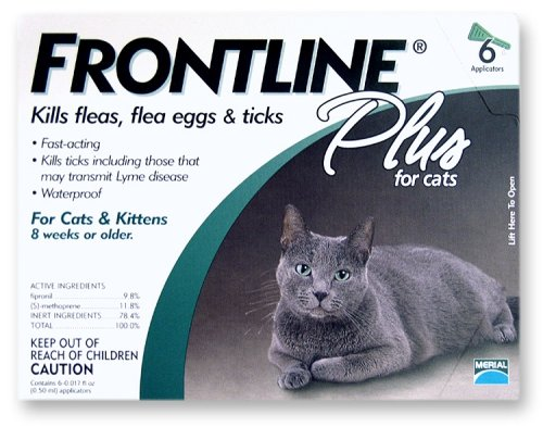 Frontline Plus Flea and Tick Control for Cats and Kittens &#8211; 6 Month Supply