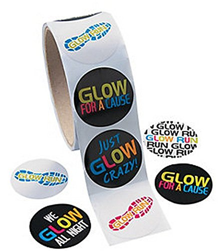 Glow for a Cause Stickers (100 Stickers) Stationary/Fundraiser/Labels