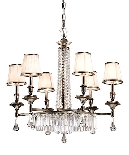 Artcraft Lighting AC747 Newcastle 6-Lite Chandelier, Pewter