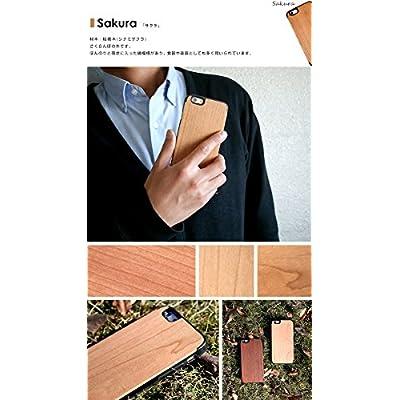 【NET-IP6CS-WO1S-CW】 天然木 木製 ケース iPhone6s/iPhone6 (4.7インチ) 対応 ウッド 木目iPhoneケース Wood 木目調 ハードケース 【サクラ】