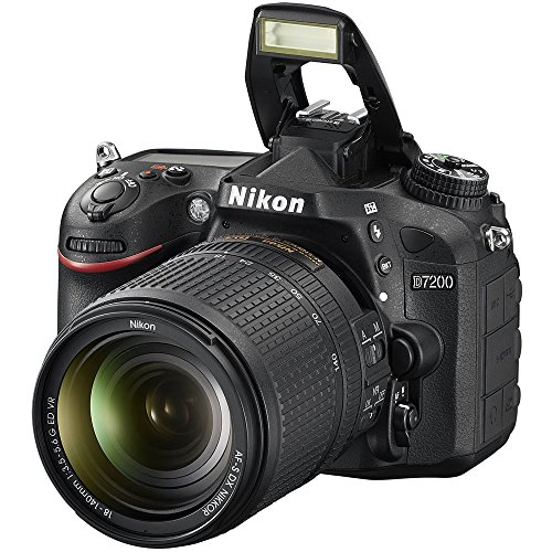 Nikon D7200 24.2 MP DX-format Digital SLR Camera with 18-140mm VR Lens (Black)(Certified Refurbished)