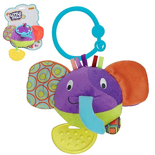 Little Pals Timber the Elephant Head Teether Rattle
