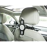 MFEEL 360° Degree Adjustable Rotating Headrest Car Seat Mount Holder for Apple iPad Air / iPad 4 / iPad 3 / iPad 2 / iPad Mini2 / iPad Mini and other Tablet PC GPS Car Headrest Mount Holder - Black