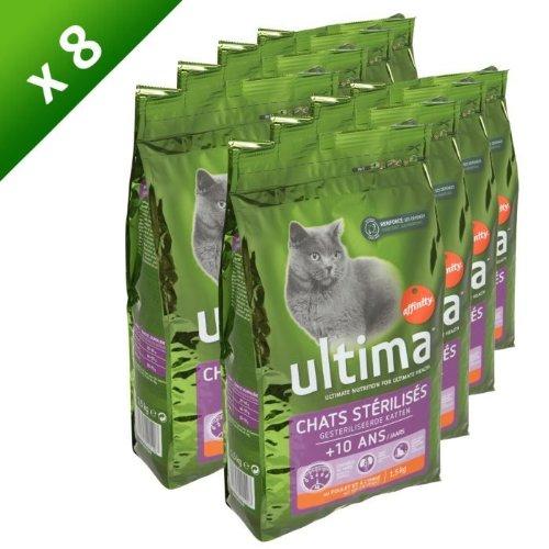 Ultima chat stérilisé +10 ans 1,5kg (x8)'