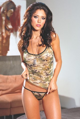 Hunting Women Camouflage Tank Top & Thong Set
