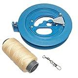 凧揚げ カイト 子供用 リール ボールベアリング 糸巻き 16cm 青 タコ糸150m スイベル6cm3点 セット