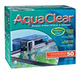 AquaClear 50 Power Filter - 110 V, UL Listed (Includes AquaClear 50 Carbon, AquaClear 50 Foam & AquaClear 50 BioMax