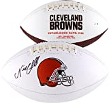 Nick Chubb Cleveland Browns Autographed White Panel Football - Fanatics Authentic Certified - Autographed Footballs