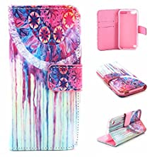buy Ipod Touch 6 & 5 Case, Asstar [Kickstand] New Pattern Premium Pu Leather Wallet [Card/Cash Slots] Protective Flip Fold Wallet Pouch Case For6Th Generation_2015 Released (Totem)