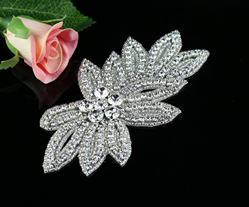 QueenDream-Best-seller-Applique-for-Wedding-Sash-navel-Applique-jewellery-Highly-Qualified-Belt-Applique-for-Wedding-Dress-Best-Bridal-Rhinestone-Applique