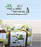 """FROGS AND SNAILS AND PUPPY DOG TAILS #2~ WALL DECAL, 13"""" X 26"""""""