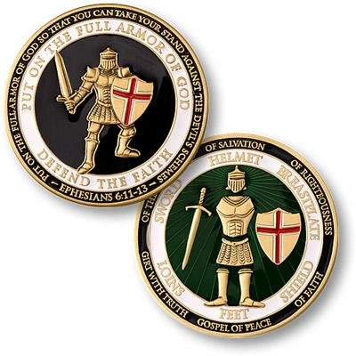 U.S. Armed Forces Armor of God Coin