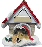 Collie Dog House Ornament