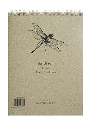 smlt-eb-100ts-c-authentic-line-cuaderno-para-bocetos-a4-80-g-papel-de-libro-100-paginas-color-crema