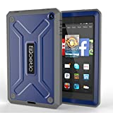 Fire HD 6 Case - Poetic Fire HD 6 Case [Revolution Series] - [Heavy Duty] [Dual Layer] Complete Protection Hybrid Case with Built-In Screen Protector for Amazon Kindle Fire HD 6 Cobalt (3 Year Manufacturer Warranty From Poetic)