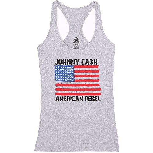 Johnny Cash American Rebel Juniors Tank Top (Men Rebel Flag Tank Top compare prices)