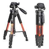 Zomei Q111 Orange Professional Aluminium Camera Tripod Camcorder Stand with Pan Head Plate for DSLR Canon Nikon Sony DV Video (Color: Orange)