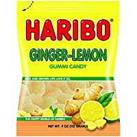 2-Pack Haribo Ginger Lemon Gummy Candy 4-Ounce