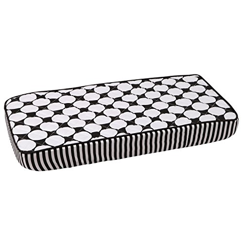 Bacati - Dots/pin Stripes Black Large Dots Changing Pad Cover