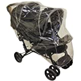 1Stopbabystore UNIVERSAL GRACO STADIUM DUO TANDEM DOUBLE RAINCOVER SAFETY 1ST COMBI RAIN COVER