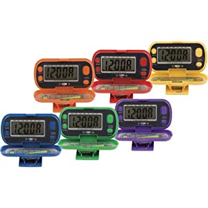 Champion Sports Deluxe Pedometer Set
